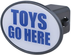 "Toys Go Here 2"" Trailer Hitch Receiver Cover"