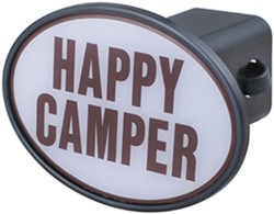 "Happy Camper 2"" Trailer Hitch Receiver Cover"