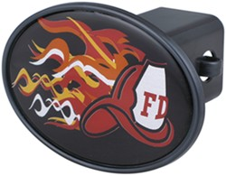 "Fire Department Helmet 2"" Trailer Hitch Receiver Cover"