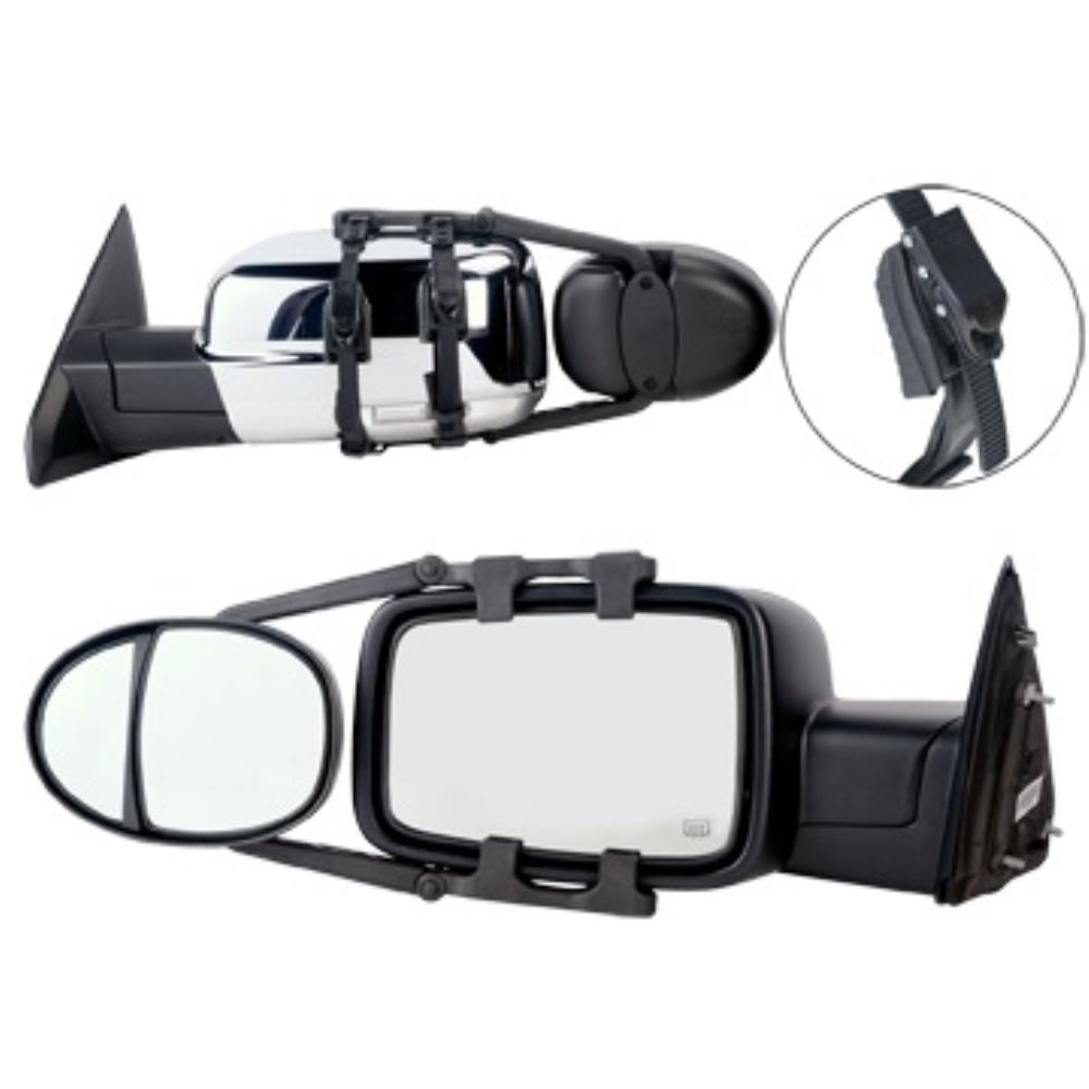 K source universal dual lens towing mirrors clip on for Mirror source