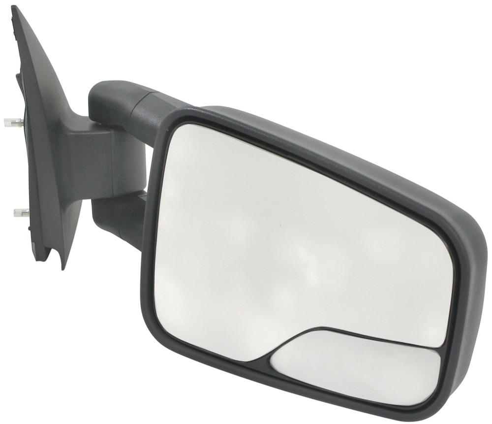 K source custom extendable towing mirrors manual black for Mirror source
