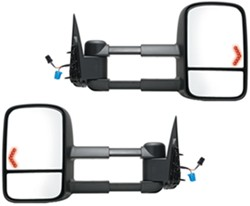 K-Source Custom Extendable Towing Mirrors - Electric/Heat w LED Signal - Textured Black - Pair