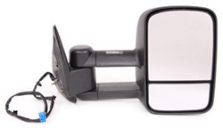 K-Source Custom Extendable Towing Mirror - Electric/Heat - Textured Black - Passenger Side