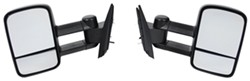 K-Source Custom Extendable Towing Mirrors - Manual - Textured Black - Pair