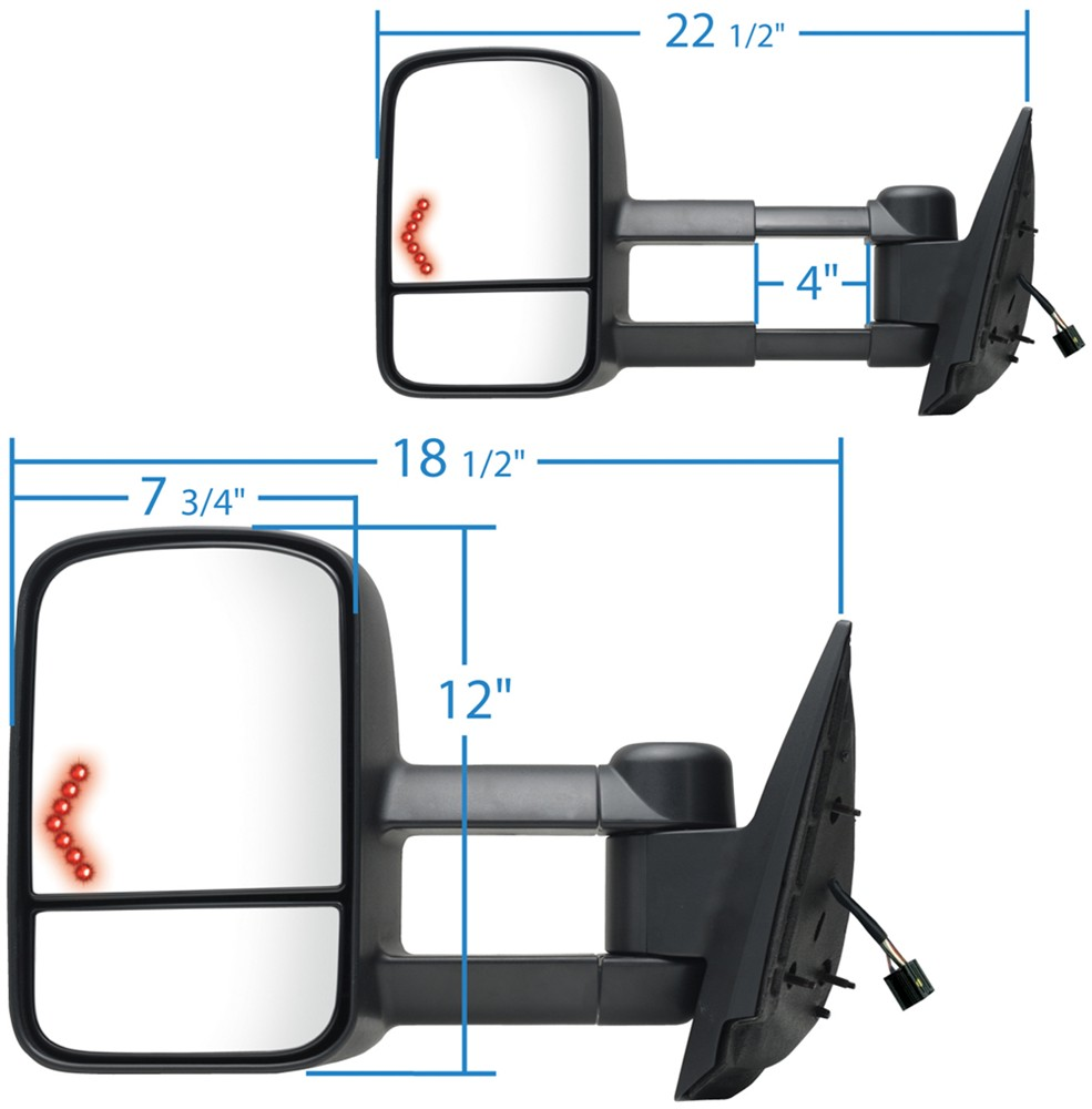 2009 gmc sierra custom towing mirrors k source for Custom mirrors