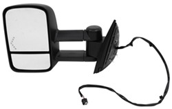 K-Source Custom Extendable Towing Mirror - Electric/Heat w LED Signal - Textured Black - Driver