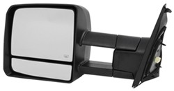 K-Source Custom Extendable Towing Mirror - Electric/Heat w Turn Signal - Textured Black - Driver