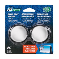 "K-Source Blind Spot Mirrors - Convex - Stick On - 2"" Round - Adjustable - Qty 2"
