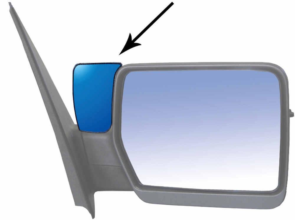 K source custom blind spot mirrors w optical blue lenses for Custom mirrors