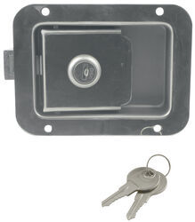 """Junior"" Locking Stainless Steel Flush Door Latch with Inside Release"