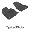 3D Kagu Custom Auto Floor Liners w MAXpider Grip - Tri-Layer - Front - Black