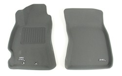 3D Kagu Custom Auto Floor Liners w MAXpider Grip - Tri-Layer - Front - Gray