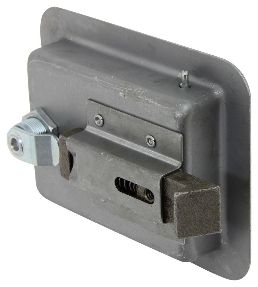 Full size locking steel flush door latch redline enclosed for Door latch parts