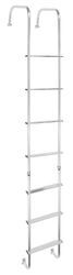 "Stromberg Carlson RV Exterior Ladder w/ Hinges - Aluminum - 99-1/2"" Tall x 13"" Wide"