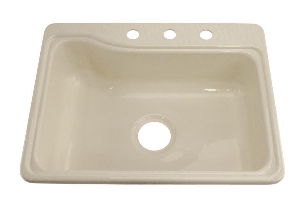 better bath 25 x 19 single sink 3 holes white