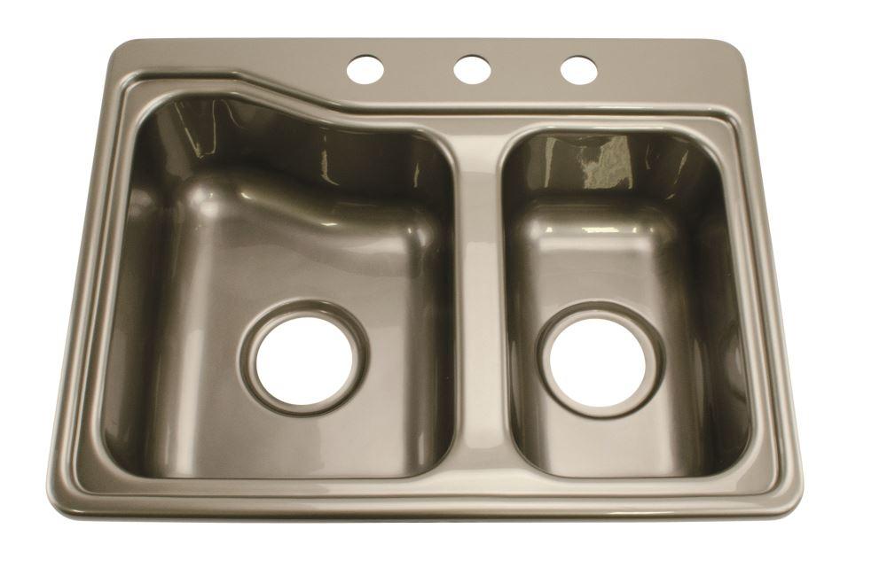 rv sinks kitchen sink double sink square sink 25 x 19 inch silver ...