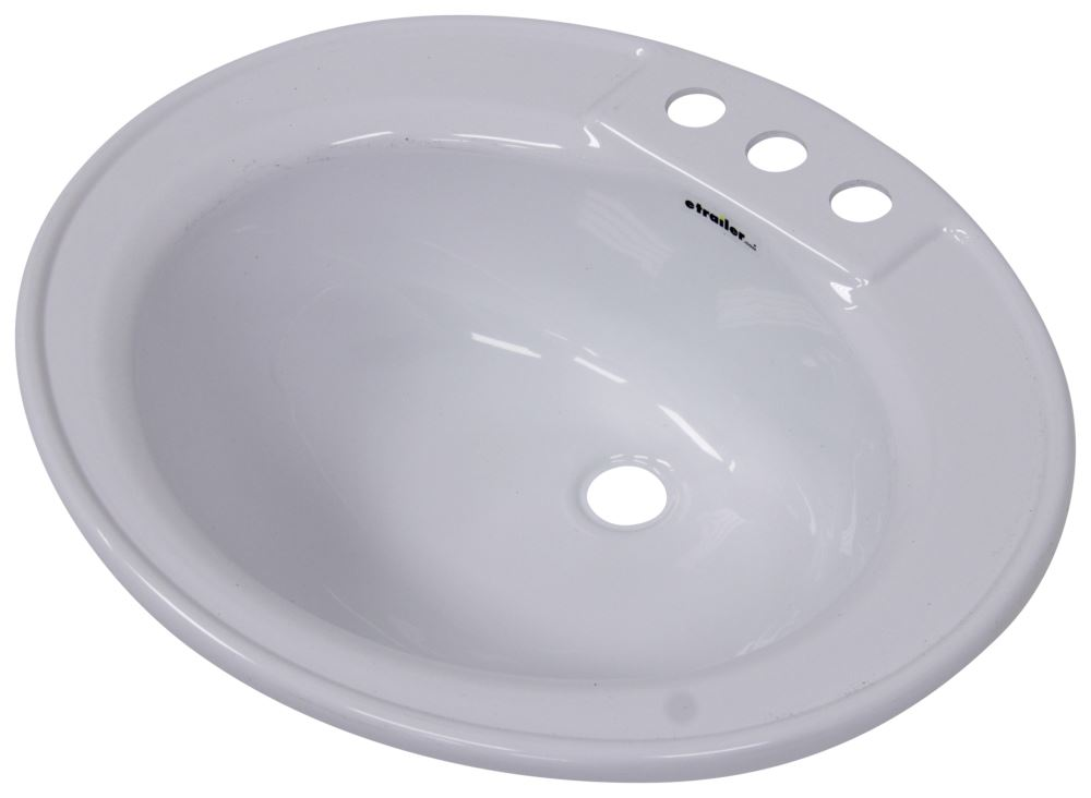 better bath 17 x 20 oval lavatory sink white lippert components rv sinks lc209635. Black Bedroom Furniture Sets. Home Design Ideas