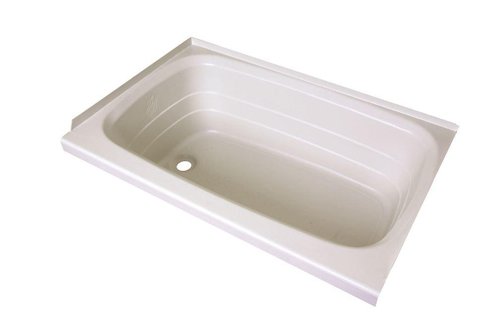 better bath 24 quot x 36 quot rv bath tub left drain white