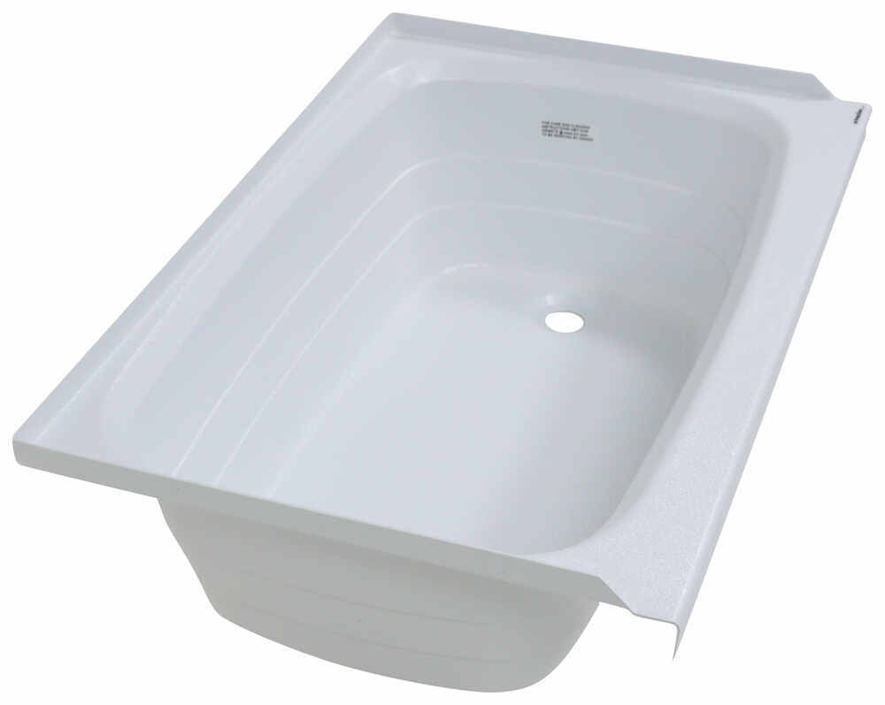 Better bath 36 long x 24 wide rv bath tub right drain for Wide tub