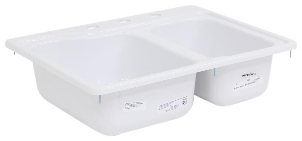 better bath 25 x 19 double sink 3 holes white