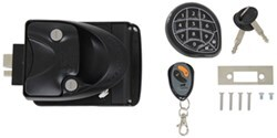 Keyless Entry System w/ Keypad and Remote for 5th Wheels, Travel Trailers, and Campers - Black
