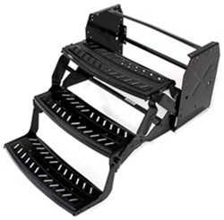 "Lippert Manual Pull-Out Steps for RVs - Triple - 9"" Drop/Rise - 24"" Wide - Steel"