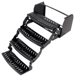 "Lippert Manual Pull-Out Steps for RVs - Quad - 8"" Drop/Rise - 24"" Wide - Steel"