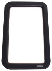 "Lippert Components 12"" x 21"" Inner and Outer Entry Door Window Frame with Seal - Black"