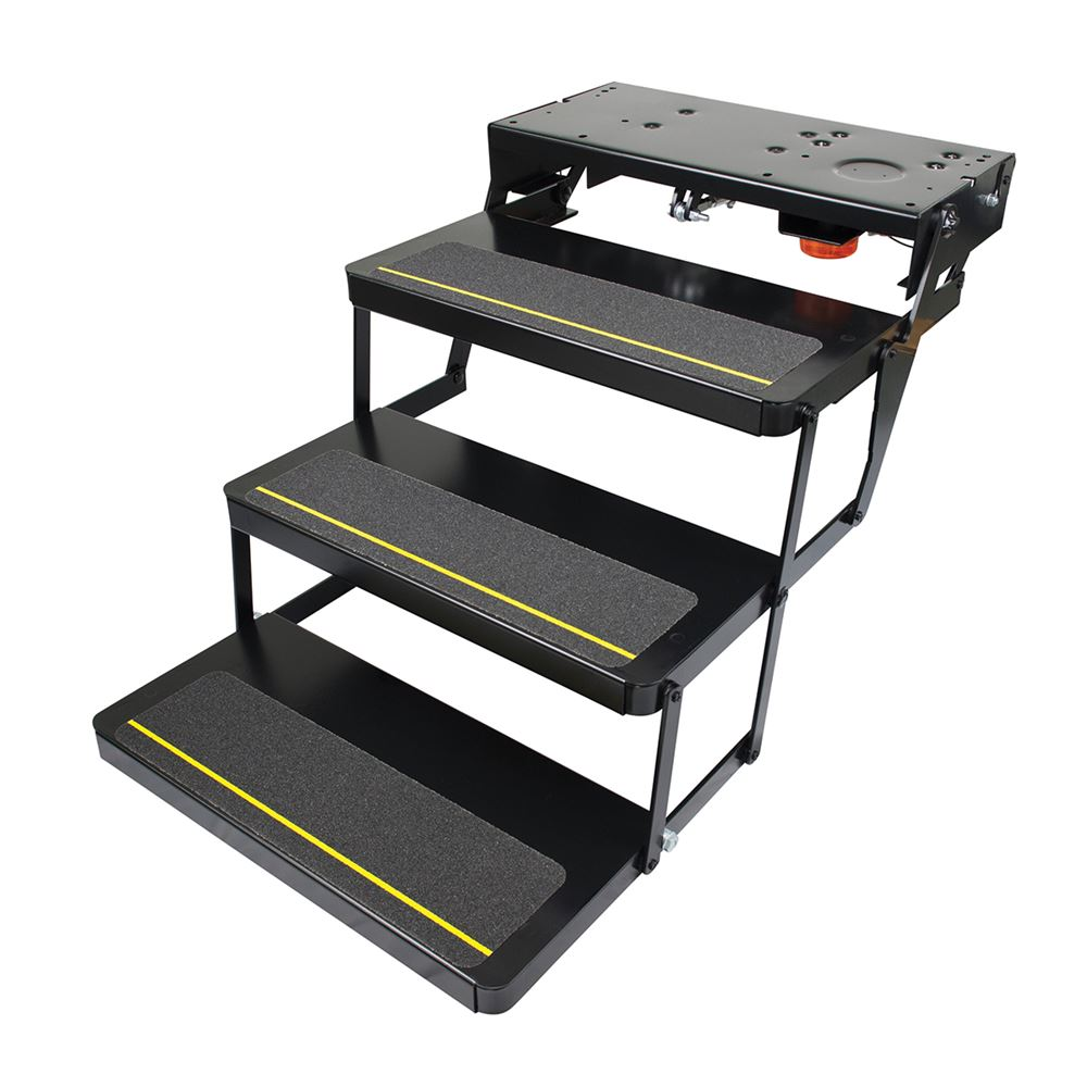 Lippert components kwikee 25 series triple tread electric for Motorized rv entry steps