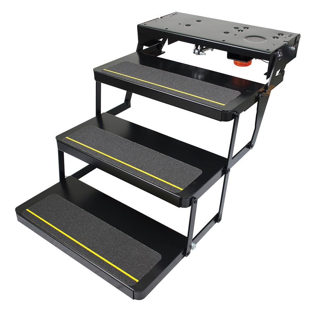 Lippert components kwikee 24 series triple electric step for Motorized rv entry steps
