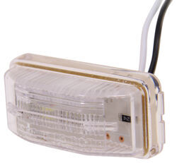 LED Trailer License Plate Light - Submersible - 2 Diodes - Rectangle - Clear Lens