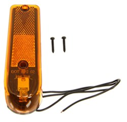 Sealed Wedge-Type Clearance Marker w/Reflex - Amber