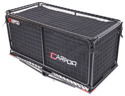 "24x48-3/4 Carpod Walled, Folding Cargo Carrier - 2"" Hitches - w/ Lid, Bag, Rise Shank - 450 lbs"