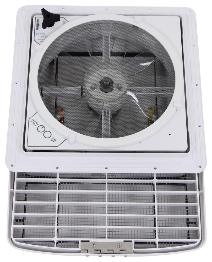 Maxxfan Deluxe Roof Vent W 12v Fan Manual Lift 4
