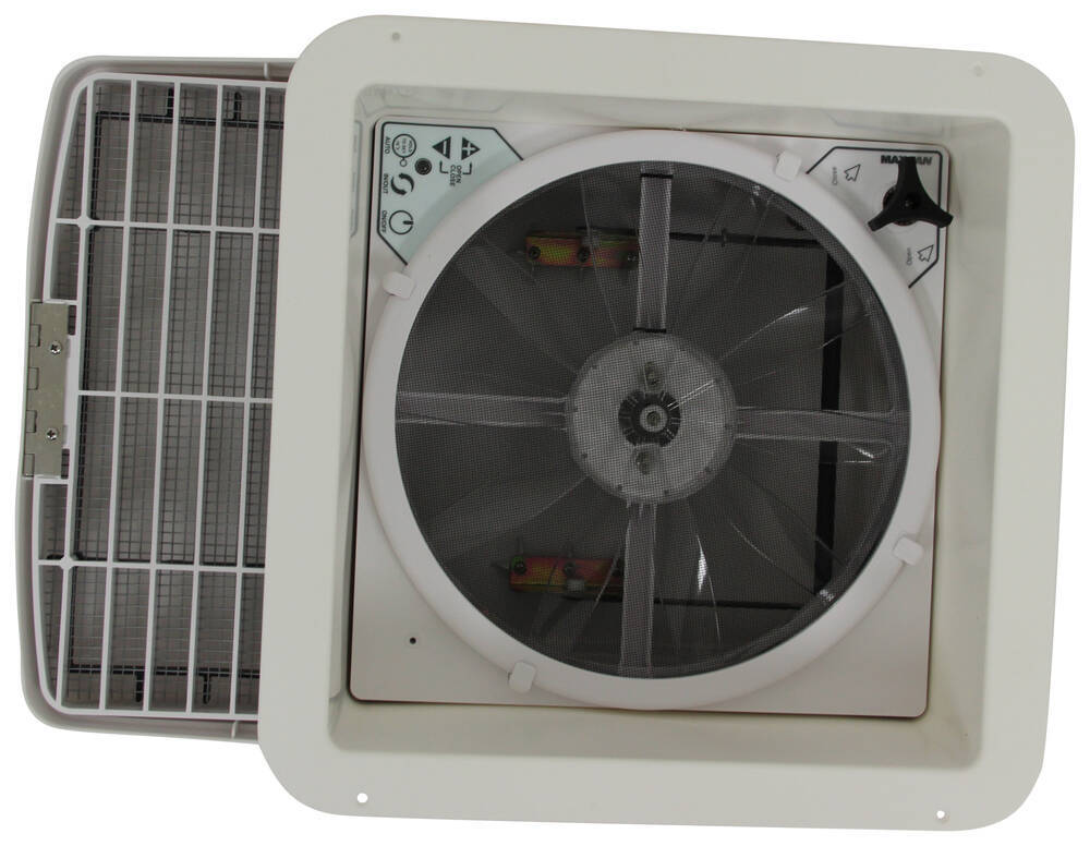 Maxxfan Deluxe Roof Vent W 12v Fan Thermostat And