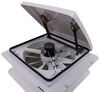MaxxFan Roof Vent w/ 12V Fan - Manual Lift - 4 Speed - White