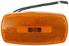 Trailer Clearance or Side Marker Light w/ Reflex Reflector - Rectangle - Amber Lens - White Base