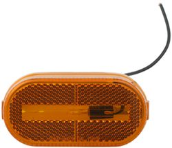 Oval Trailer Clearance, Side Marker Light with Reflector - Amber
