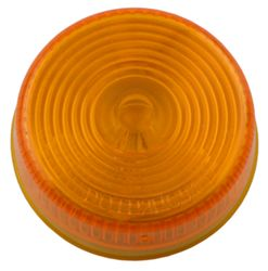 "Sealed, 2"" Round Trailer Clearance and Side Marker Light, Flush Mount - Amber"