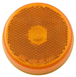 "Sealed, 2-1/2"" Round Trailer Clearance, Side Marker Light with Reflector - Amber"