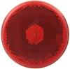 "Sealed, 2-1/2"" Round Trailer Clearance, Side Marker Light with Reflector - Red"