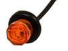 Uni-Lite LED Clearance or Side Marker Light w Grommet - Submersible - 1 Diode - Round - Amber Lens