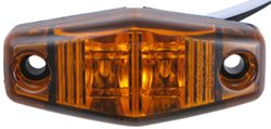 Sealed, Mini LED Side Marker, Clearance or Identification Light, 2 Wire, 2 Diode - Amber
