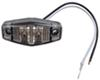 Sealed, Mini LED Marker, Clearance or Identification Light, 2 Wire, 2 Diode - Amber w/ Clear Lens