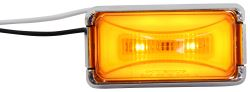 "Optronics GloLight - Sealed 2"" Rectangular Trailer LED Clearance/Side Marker - 8 Diodes - Amber"