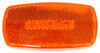 Rectangular LED Trailer Clearance and Side Marker Light with Reflex Reflector- Amber - White Base
