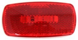 Trailer Clearance or Side Marker Light w/ Reflex Reflector - LED - 3 Diodes - Red Lens - White Base