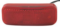 Rectangular LED Trailer Clearance, Side Marker Light with Reflector, 2 Wire, 6 Diode - Red