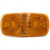Double Bullseye LED Trailer Clearance and Side Marker Light, 2 Wire, 10 Diode - Amber