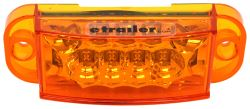 Miro-Flex LED Trailer Side Marker Light and Mid-Ship Turn Signal - Submersible - Amber Lens